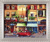 DIY PBN-paint by numbers Avenue des Champs Elysees 41cm by 50cm Frameless.