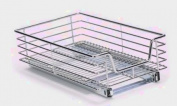 Household Essentials Extra-Deep Sliding Cabinet Organiser, Chrome, 29cm