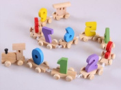 Wooden Toy Baby Gift Early Learning Digital Number Small Connect Train Game 1set