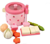 Mother Garden Wooden Toy Baby Gift Strawberry Vegetable Hot Pot Play House 1set