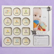 My First Year baby photo collage frame. Great wedding favours, birthday gifts,baby shower presents, christmas stocking fillers and more