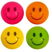 Henbrandt 12 Smiley Jet Balls (Assorted Neon Colours)