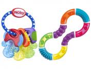 Nuby Icybite Hard/Soft Teething Keys with Twisty Figure 8 Teether