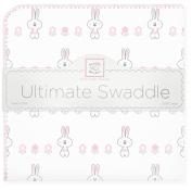 SwaddleDesigns Ultimate Receiving Blanket, Garden Bunnie