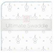 SwaddleDesigns Ultimate Receiving Blanket, Space Friend