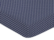 Fitted Crib Sheet for Orange and Navy Arrow Baby/Toddler Bedding Set Collection - Hexagon Print
