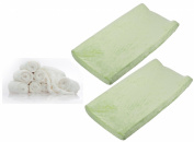 Summer Infant Ultra Plush Change Pad 2-Pack with Reusable Bamboo Wipes, Sage