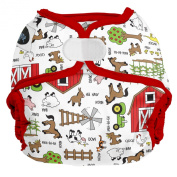 Imagine Baby Products All-in-Two Hook and Loop Nappy Shell, Barnyard Jam