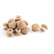 Cabinet Drawer Cupboard Wooden Round Handle Pull Knob Grip 12 Pcs