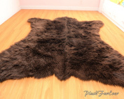 Faux Fur Rug Bearskin Brown Grizzly Accent Area Shaggy Rug 1.5m X 1.8m or 150cm X 180cm
