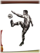 Soccer Mural Wall Decal Vinyl Decals Sports Player Sticker Wallies Peel & Stick