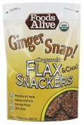 Foods Alive - Organic Flax Crackers Ginger Snap - 120ml