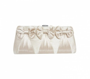 TdZ Sweetheart Satin Three Bow Collection Party Clutch 23cm w/Strap
