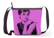 Female fabric Popular Shoulder Bags Crossbody Bags Sling Bag with Audrey Hepburn Print