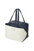 Marc By Marc Jacobs M0005310 Box Colorblocked Tote Handbag White Birch / Navy