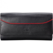 Mancini Leather Goods RFID Secure Gemma Trifold Clutch Wallet