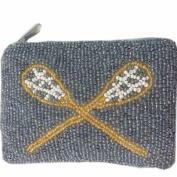 E.a@market Tennis Racket Pattern Change Purse Pure Manual Beaded Coin Purse