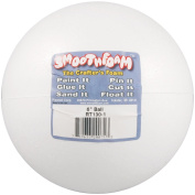 Smoothfoam Ball Craft Foam for Modelling, 15cm , White