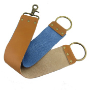 Leather and Canvas Sharpening Shaving Strop for Barber Hair Removal Straight Razor