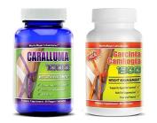 Caralluma 1000 & Garcinia Cambogia 1300 All Natural Weight Loss Appetite Control Fat Reduction Carb Blocker 60 Capsules Per Bottle