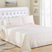 "Queenie® -2 Pcs Standard Size Embroidery Pillow Shams Embroidered Pillow Shams Luxury 300 Thread Count 100% Cotton, 20"" X 26"" (50 X 70 Cm)"