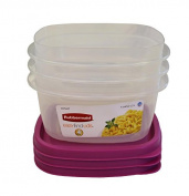 Rubbermaid Easy Find Lid Value Pack Food Storage Containers, Colour, Passion Fruit