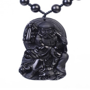 "Natural Obsidian ""The Dharma Patriarch"" Amulet Pendants"