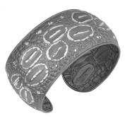 Sterling Silver Fancy Textured Cuff Bracelet