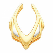 Two Tone Pendant Enhancer in 14k White and Yellow Gold
