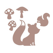 Classic fox and squirrel wall sticker set by Stickerscape - Available in a choice of colours - Removable - Wall decal - Wall graphic - Wall art