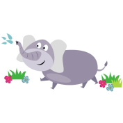 Elephant wall sticker - Jungle themed wall sticker available in two sizes, perfect for a nursery or kids bedroom