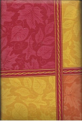 Vinyl Tablecloth with Flannel Back 130cm X 230cm Oblong Fall Autumn Symbol Plaid and Leaves