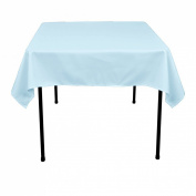 ArtOFabric 140cm Square Polyester Tablecloth Baby Blue