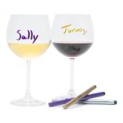 Brilliant - Wine Glass Writer Pen, Set of 3 Metallic Markers