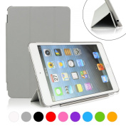 iPad mini Case, SymbolLife Ultra Thin Smart Cover with Auto Sleep/Wake Function for Apple iPad mini 1st Gen + Screen Protector + Cleaning Cloth + Stylus Grey