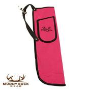 Muddy Buck Gear Codura Side Quiver w/ Belt Clip Hot Pink