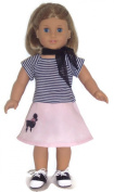 Doll Clothes Poodle 3 Piece Skirt Set Made for 46cm american Girl Doll Clothes