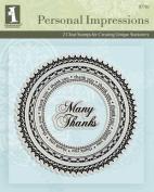 Inkadinkado Personal Impressions Stamp, Many Thanks Frame