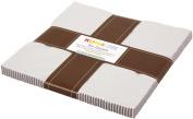 Kona Cotton ASH Layer Cake 25cm x 42 Squares Quilting Fabric Robert Kaufman TEN-167-42