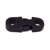 25pcs Mini Straight Release Buckles for Paracord Bracelets, Necklaces, and Lanyards Black