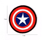 Captain America Marvel Comics Shield Logo Embroidered Iron on Patch