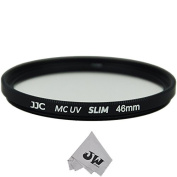 JW F-MCUV46 46mm Multi-coated Ultra-thin Slim Frame UV Protection Glass Filter + JW emall Micro Fibre Cleaning Cloth