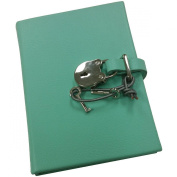 Pebble-Aqua DIARY Small with Silver Lock Eco-leather by Graphic Image™ -