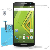 TUDIA Premium Quality HD Ultra Clear Tempered Glass Screen Protector for Motorola Moto X Play
