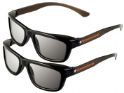 ED 2 Pack CINEMA 3D GLASSES For LG 3D TVs - Adult Sized Passive Circular Polarised 3D Glasses