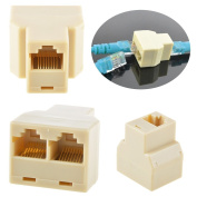 Flashmen® RJ45 CAT5 6 Ethernet cable LAN Port 1 to 2 Socket Splitter Connector Adapter PC
