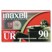 MAXELL CORP. OF AMERICA Dictation & Audio Cassette, Normal Bias, 90 Minutes (45 x 2)