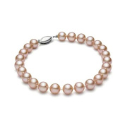 HinsonGayle AAA GEM Collection Natural Pink Round Freshwater Cultured Pearl Bracelet 14K White Gold