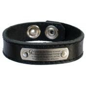 Serenity Prayer Leather Bracelet