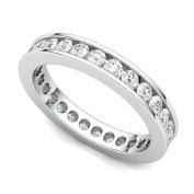 Platinum Channel set Diamond Eternity Band Ring